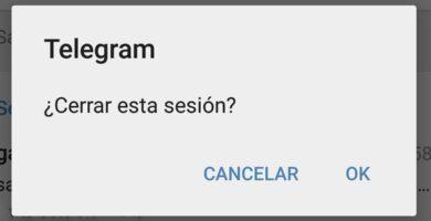 cerrar sesión en telegram